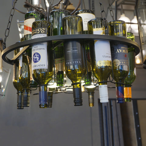 Wine Bottle Chandelier Pendant at Murano Plus, Lighting Specialists in Auckland