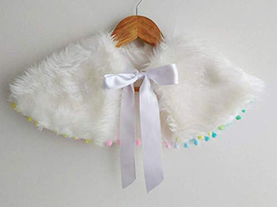 White Capelet for girls - Faux Fur Capelet