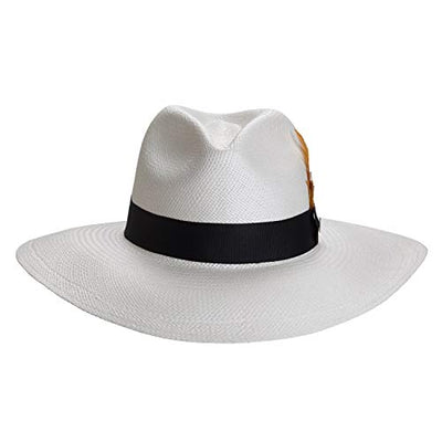 White Eva Wide Brim Panama Hat