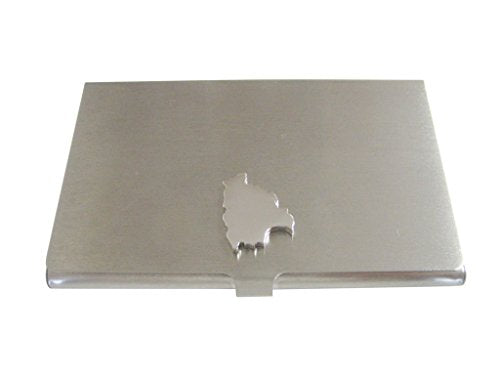 Bolivia Map Shape Business Card Holder