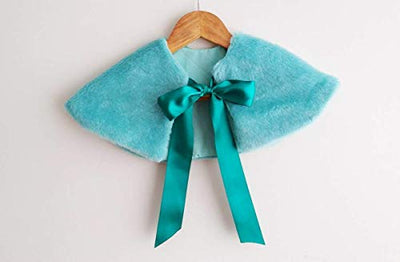 Turquoise Capelet for girls - Faux Fur Capelet