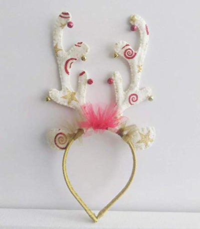 Gold and Red Antlers Headband