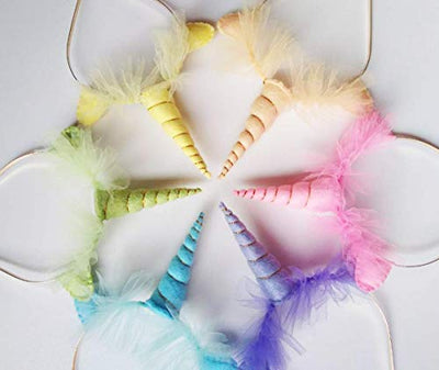 Unicorn Headbands Party Pack - Pastel Rainbow Unicorn Headbands