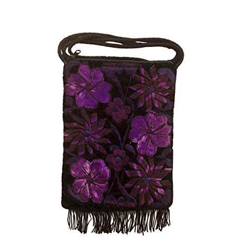 Handmade Mayan Purse - Purple Flowers (Small)