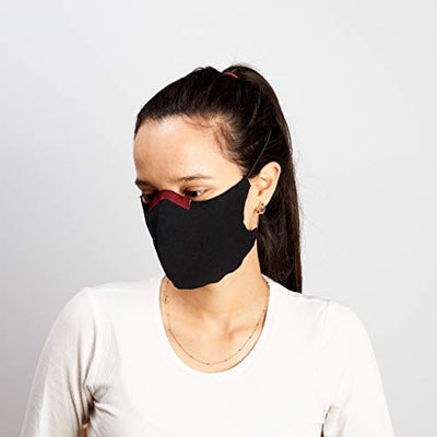 Comfortable Linen Face Mask with nose wire Light Red, Cloth Face Cover, Washable, Reusable. Adult & Kids Mask, 3 Layers, Non Woven Fabric Filter. Protective Men. Stay Safe.