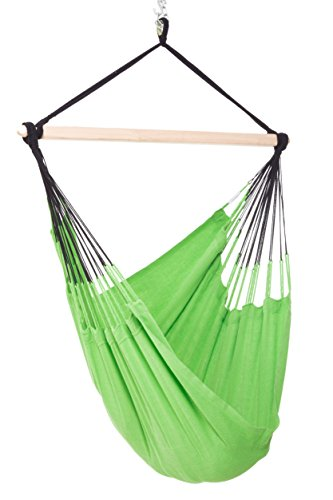 Colombian Hammock Chair - 44 inch - Natural Cotton Cloth (Lime)
