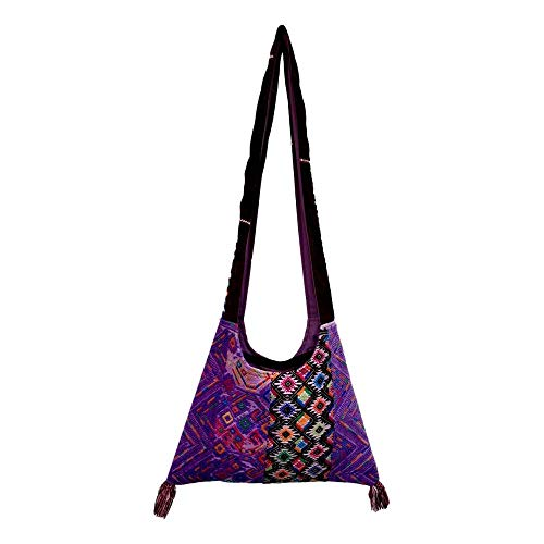 Guatemalan Crossbody Bag - Purple Zunil
