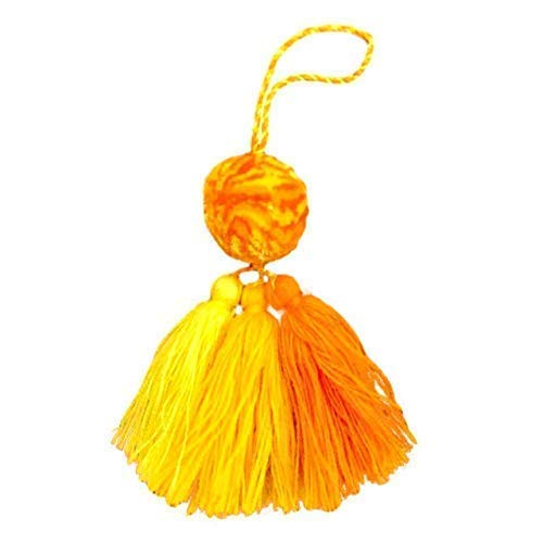 Mexican Pom Poms - Orange Neon Tassel