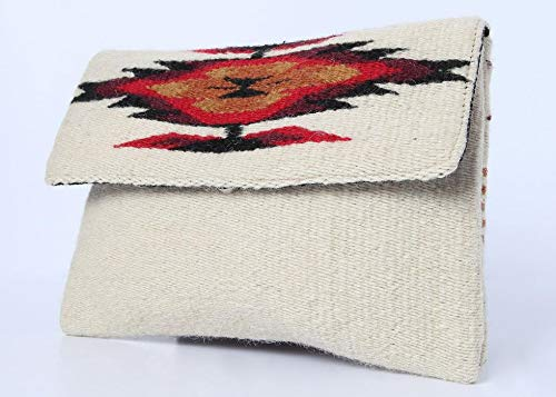 Red Casita Ivory Boho Clutch, Aztec Clutch, Southwestern Purse
