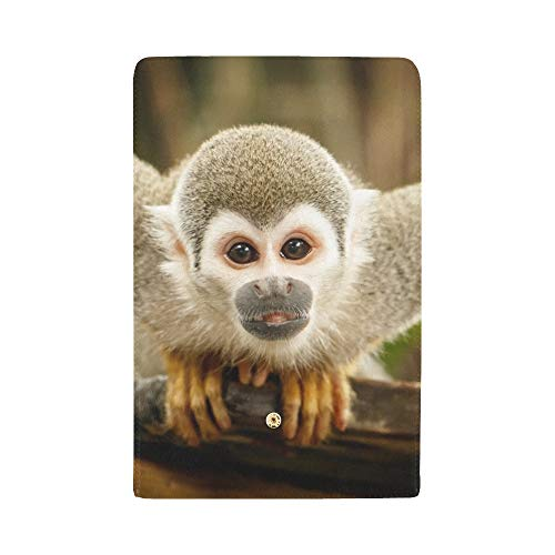 Unique Custom Look Squirrel Monkey Ecuadorian Jungle Amazon Women Trifold Wallet Long Purse Credit Card Holder Case Handbag