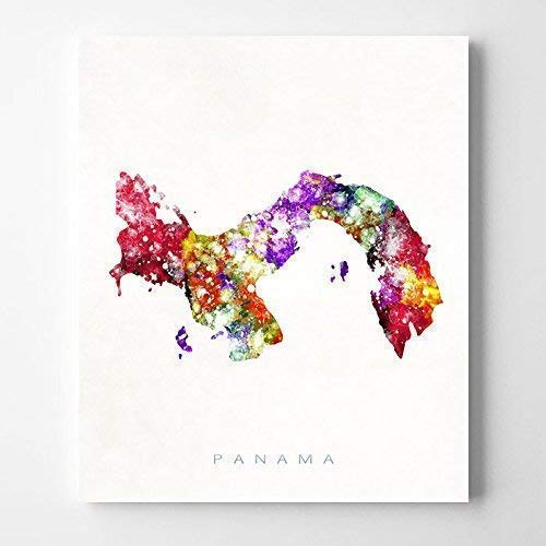 Panama Watercolor Map Poster