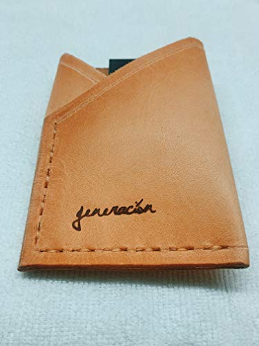 Generación | Slick | Front Pocket Leather Wallet w/Black Money Clip, Minimalist Everyday Carry Patina Handmade in California USA