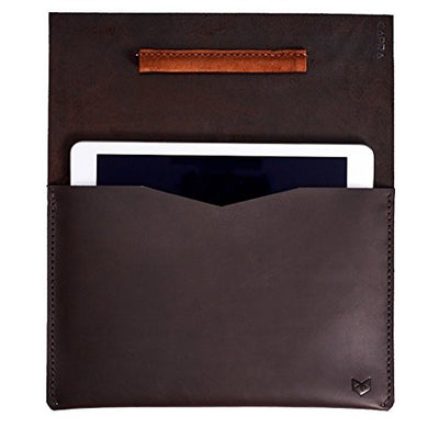 "Capra Leather iPad Pro Case for Men, Brown New iPad Pro 12.9"" inch Sleeve Accessory with Apple Pencil Holder, Handmade Protective Folio Tablet Carrying Bag. Mens Gift"
