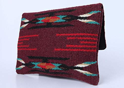 Red Casita Maroon Boho Clutch, Aztec Clutch, Southwestern Purse