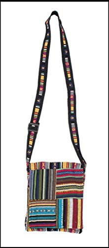 Small Adjustable Tribal Bohemian Crossbody Shoulder Bag Sling Purse or Tablet Case