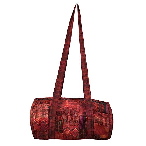Guatemalan Duffel Bag - Orange Patchwork