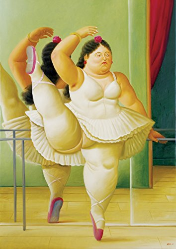 Fernando Botero - Dancers at the Bar, Size 18x24 inch, Poster art print wall décor