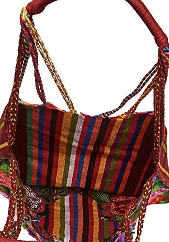 Day of the Dead Skull Floral Embroidered Hobo Casual Bag Mexican Handmade Bag