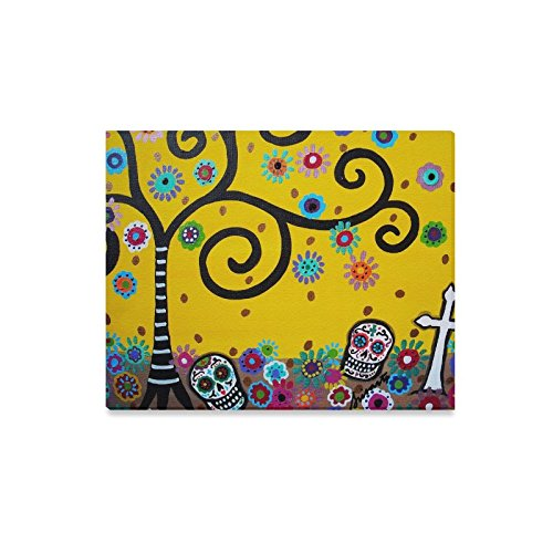 Canvas Wall Print and five Stars Gift Mexican Style Tree and Flower ...