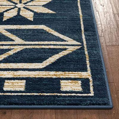 "Well Woven Canton Blue Southwestern Medallion Area Rug 4x6 (3'11"" x 5'3"")"