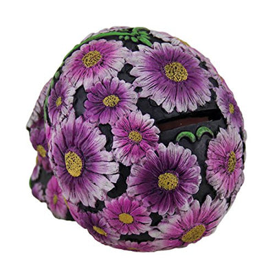 Floral Black and Pink Sugar Skull Coin Bank