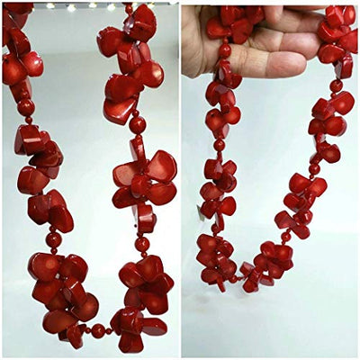 Natural Coral Necklace. Gift for her!. Genuine Coral. Love Necklace.