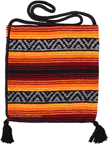Peyote Style Popular Fiesta Carry On Shoulder Bag Beautiful Hand-Woven Acrylic Mexican Peyote Design in Vivid Colors (Fiesta J)