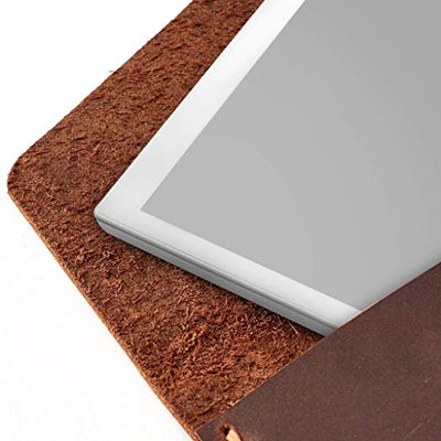Capra Leather reMarkable 2 Tablet Case for Men, Tan Brown E-reader Folio, Handmade E-ink Digital Paper Sleeve, Protective Marker Holder. Mens Gifts