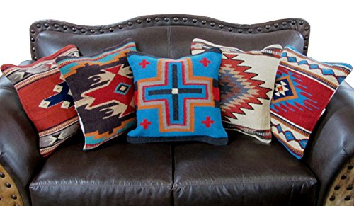 Throw Pillow Covers 40 X 40 Hand Woven Wool In Southwest Mexican Custom Native American Decorative Pillows