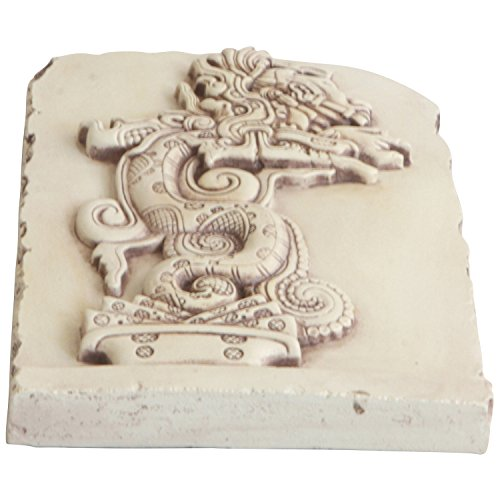 Maya Vision Serpent Wall Relief Hanging, 7.5 Inches Tall