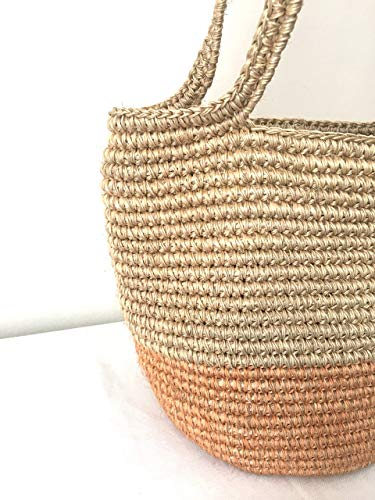 Natural Rose Gold Straw Raffia Shoulder bag/Handwoven boho handbag/Purse/Summer Tote/Gifts for her/Handmade/Basket Beach bag