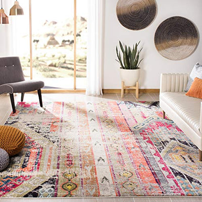 Light Grey Native Latin American Rug Boho