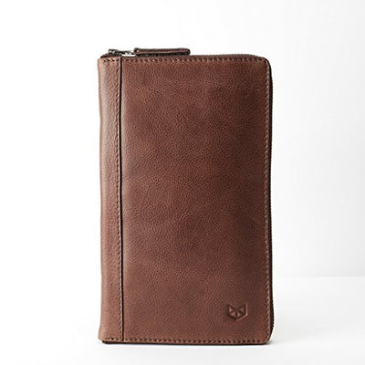 Capra Leather Leather Travel Document Organizer for Men, Brown Passport Wallet, Personalized Passport Holder, Customized Passport Cover. Mens Gifts