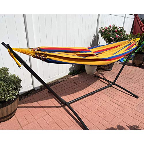 Hammock Allison Outdoor Portable for Patio, Garden (Yellow) Cotton 100% Colombian