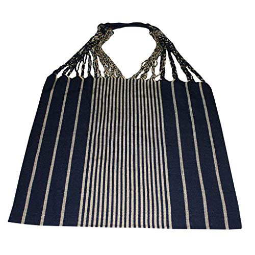 Bag Multipurpose Mexican Style woven on pedal loom. (Navy Blue Beige)