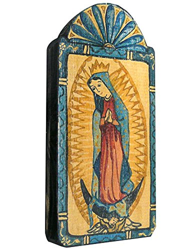 "Our Lady of Guadalupe Handmade Plaque 3.5"" x 7.25"""
