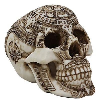 Decorative Skull with Mayan Calendar