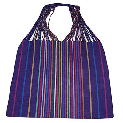 Bag Multipurpose Mexican Style woven on pedal loom. (Purple Multicolor)