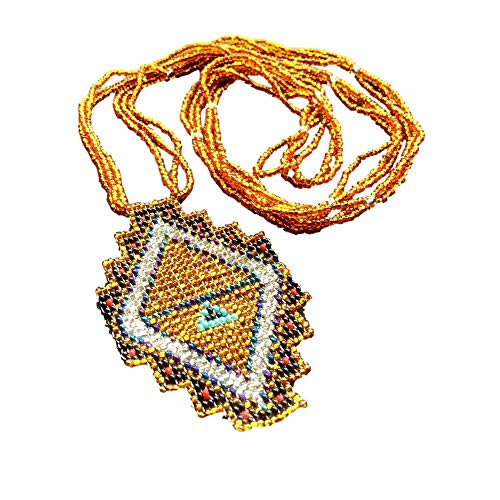 Maya Geometry Beaded Necklace
