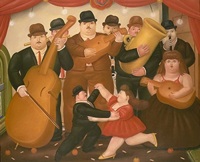 Fernando Botero - Dancing In Colombia, Size 24x30 inch, Poster art print wall décor