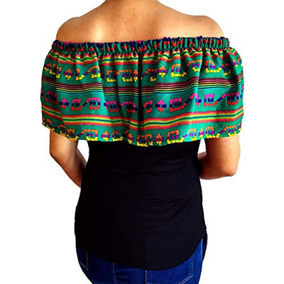 Blouse with Mexican Shawl