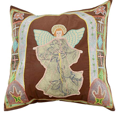 Handmade and Embroidered Angel Throw Pillow