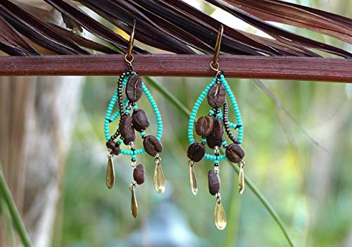 Handmade Coffee Bean Earrings