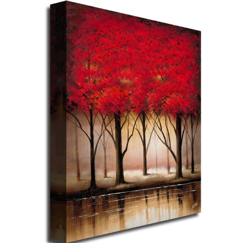 Trademark Fine Art Serenade in Red by Master's Art Canvas Wall Art, 18x24-Inch