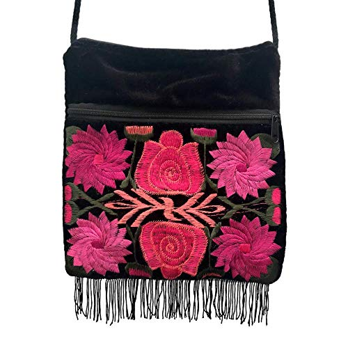 Handmade Mayan Purse - Pink Flowers