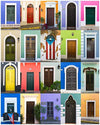 Doors of Old San Juan Wall Art Print