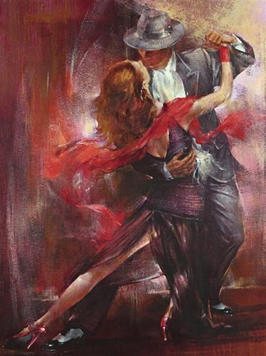 Tango Latin Dance Urban Romance Poster Art Print 16 x 20 inches