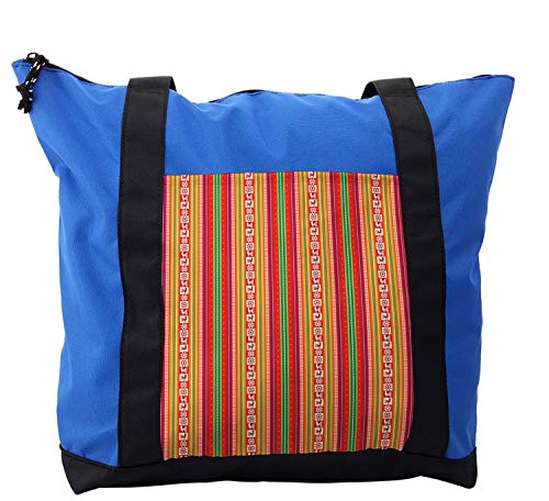 Lunarable Tribal Shoulder Bag, Bolivian Folk Birds, Durable with Zipper