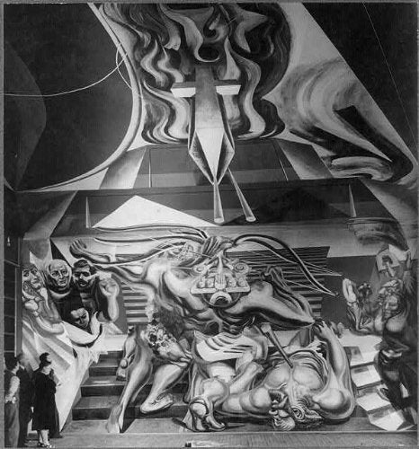 Photo: Escuela Mexico,Chillan,Chile,David Alfaro Siqueiros
