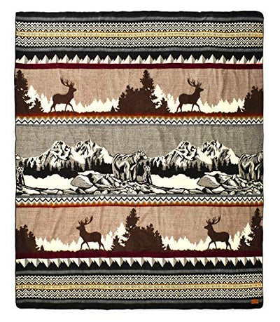 Ecuadorian Handmade Blanket - Colorado Mountain